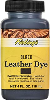 Leather Dye Alcohol-Based Dries Uniformly Polish Shine Color Black 4oz