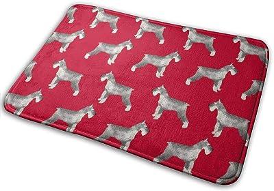 """Schnauzer Dog Dogs Design - Red_17142 Doormat Entrance Mat Floor Mat Rug Indoor/Outdoor/Front Door/Bathroom Mats Rubber Non Slip 23.6"""" X 15.8"""""""