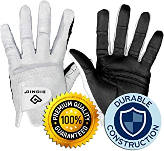 2019 New Improved 2X Long Lasting Bionic RelaxGrip Golf Glove with Patented Double-Row Finger Grip System