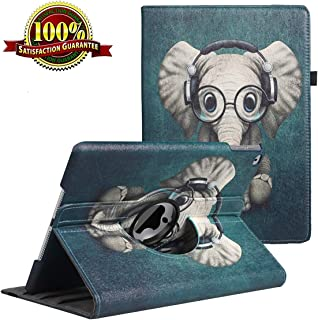 iPad 9.7 inch Case 2018 2017/ iPad Air Case - 360 Degree Rotating Stand Protective Cover Smart Case with Auto Sleep/Wake for Apple iPad 5th/6th Generation (Elephant)
