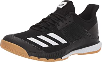 adidas Women's Crazyflight Bounce 3 Volleyball Shoe, Black/White/Gum, 12.5 M US