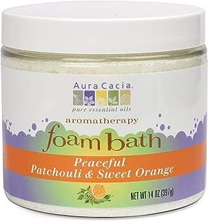 Aura Cacia Peaceful Patchouli & Sweet Orange Foam Bath, 14 ounces