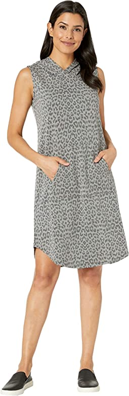 Printed Hooded French Terry Dress
