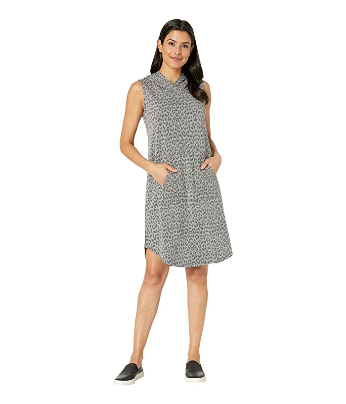 B Collection by Bobeau Printed Hooded French Terry Dress (Leopard Camo) Women