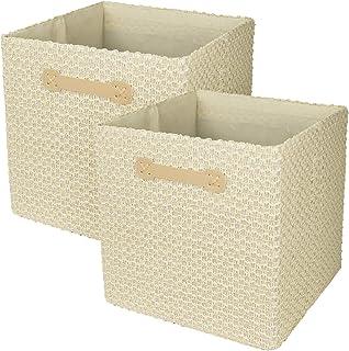La Jolíe Muse Organisateur de Cubes de Rangement Pliables, 30cm x 30cm, Beige