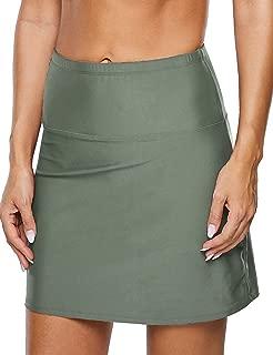 coastal rose Women's Swim Skirt High Waist Bikini Bottom Tankini Skirted Bathing Suit Bottom