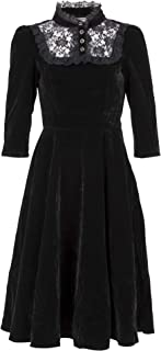 Best high collar black lace dress Reviews