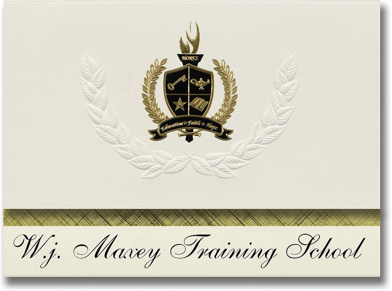 Signature Ankündigungen W.J. Maxey Training Training Training Schule (Whitmore Lake, mi) Graduation Ankündigungen, Presidential Stil, Elite Paket 25 Stück mit Gold & Schwarz Metallic Folie Dichtung B078TN3R3J   Charmantes Design  59b376