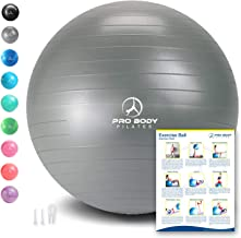 Exercise Ball – Professional Grade Anti-Burst Fitness, Balance Ball for Pilates,..
