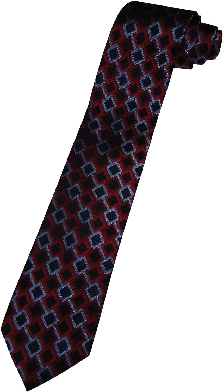 3df9cb0ce6 Isaac Mizrahi New York York York Mens Neck Tie Red and blueee Diamond  Pattern 8f54db