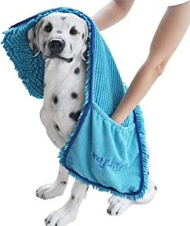 حوله سگ جاذب Furfox ، دستگاه حوله خشک کن میکرو فیبر قابل شستشو با جیب دستی حوله حیوان خانگی برای سگ بزرگ 35 35 15 اینچی »