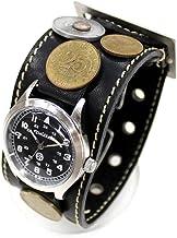 クイッター(Quitter) メンズ腕時計 ブラック 腕周り13-20cm、ベルト幅4cm、時計3.5cm