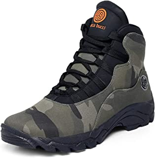 Bacca Bucci® Men's Wolf Comfortable Hiking Boots with Adaptive Smart Cushioning Non Slip hi-top Boots for Hiking, Camping,...