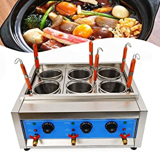 TFCFL Commercial 6 Holes Noodles Cooker Electric Pasta Cooking Machine Pasta Makers US Commercial Pasta Cookers Rinse Stations