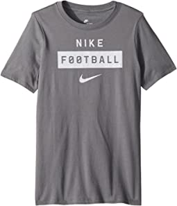 Nike Kids Dry Football Wordmark Tee (Little Kids/Big Kids)