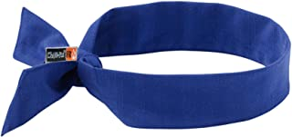 Cooling Bandana, Fire Resistant, Evaporative Polymer Crystals for Cooling Relief, Tie for Adjustable Fit, Ergodyne Chill Its 6700FR