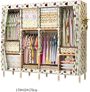 WSZJJ Wardrobe Dressing Wardrobe Bedroom Storage Closet Bedroom Furniture Wardrobe Hanging Foldable Non-Woven Textiles