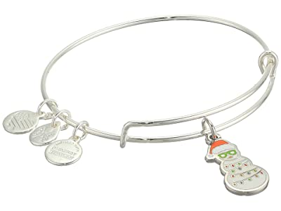 Alex and Ani Color Infusion, Holiday Snowman Bangle Bracelet (Shiny Silver) Bracelet