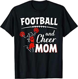 Football and Cheer Mom Gift For Men Women T-Shirt