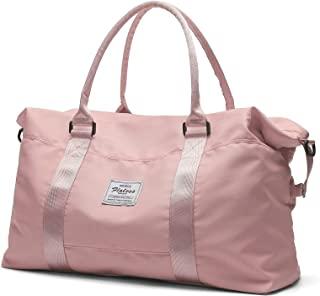Travel Duffel Bag,Sports Tote Gym Bag,Shoulder Weekender Overnight Bag for Women, A-pink1-Large, Large,