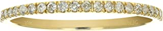 Vir Jewels 1/6 cttw Pave Diamond Wedding Band in 10K White or Yellow Gold