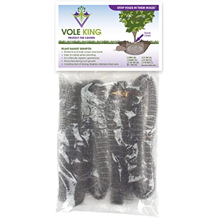 VOLE KING Plant Baskets – Gopher and Vole Baskets, 1 Gallon, Pack of 4 – Protect Plants, Trees, Flowers and Bulbs from Voles, Gophers and Moles – A One Time Solution, No Repellent Needed