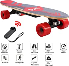 Nesaila 28inch Electric Skateboard 20 KM/H Top Speed, 350W Singal Motor,7 Layers Maple E Skateboard with Wireless Remote Complete Cruiser for Adults and Youths