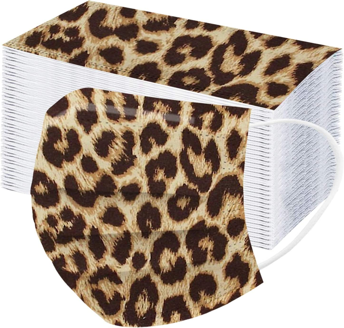 10 20 50 Topics on TV Max 56% OFF 100pcs Adult Non-W Cheetah 3-Layer Disposable_Face_Mask