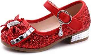 Little Girl's Adorable Sparkle Mary Jane Princess Party Dress Shoes