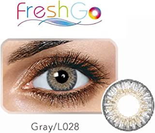 Case for Color Contacts Eye LensesFreshGoCosmetic Makeup Lens Last 1 Month! (Sterling Gray Case)