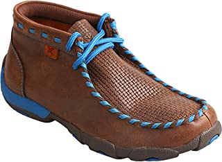 Twisted X Boys' Blue Lace Driving Moccasin Boot Moc Toe
