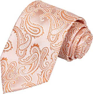 Mens Extra Long Tie Paisley Pattern Necktie + Gift Box (63'' XL)