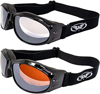 Global Vision Motorcycle ATV Riding Clear Mirror and Driving Mirror Glasses Sunglasses