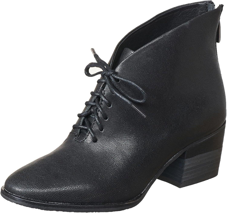 Antelope Women's 607 Black Leather Open Cut Bootie 40