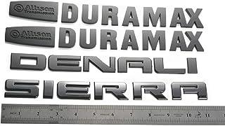 Aimoll Set New Replacement for Sierra Denali Duramax 2500HD 3500HD Badges Emblem Black