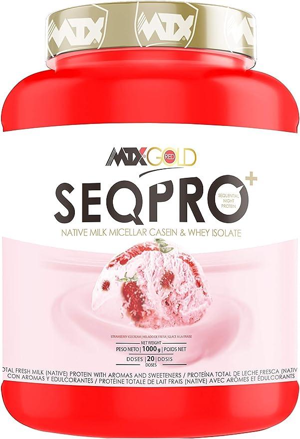 MTX nutrition SEQPRO RedGOLD (1,496 Gr) 3,3 Lbs. Chocolate Brownie –Suplemento PREMIUM de proteína NATIVA Total de Leche Fresca con alta concentración ...