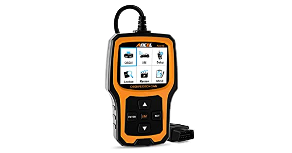 Black//Yellow ANCEL AD 410 AD410 Enhanced OBD II Vehicle Code Reader Automotive OBD2 Scanner Auto Check Engine Light Scan Tool