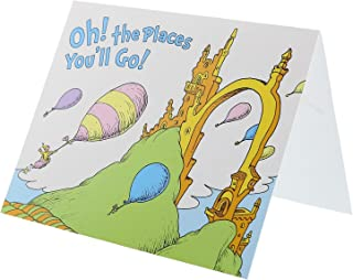 Dr. Seuss Oh The Places You'll Go Graduation Party Supplies Do It Yourself Thank You Invitation Notecards (8)