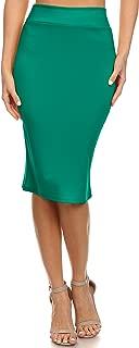 forest green pencil skirt