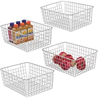 4-Pack Ispecle  Metal Wire Storage Baskets with Handles