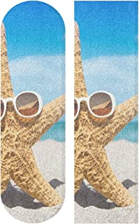 Beach and Starfish Skateboard Grip Tape Sport Outdoor Skateboard Longboard Board Waterproof Griptape Sheet Sticker Sand Paper Anti Slip 9