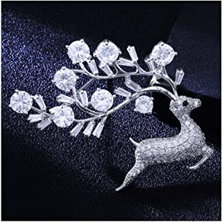 HMLSM Fawn Brooch Female Pin Buckle Western Assembly Jewelry (Color : C)