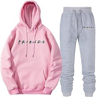SayahMen Leisure Plus Size Hood Long Sleeve Sweatshirt Pants Set