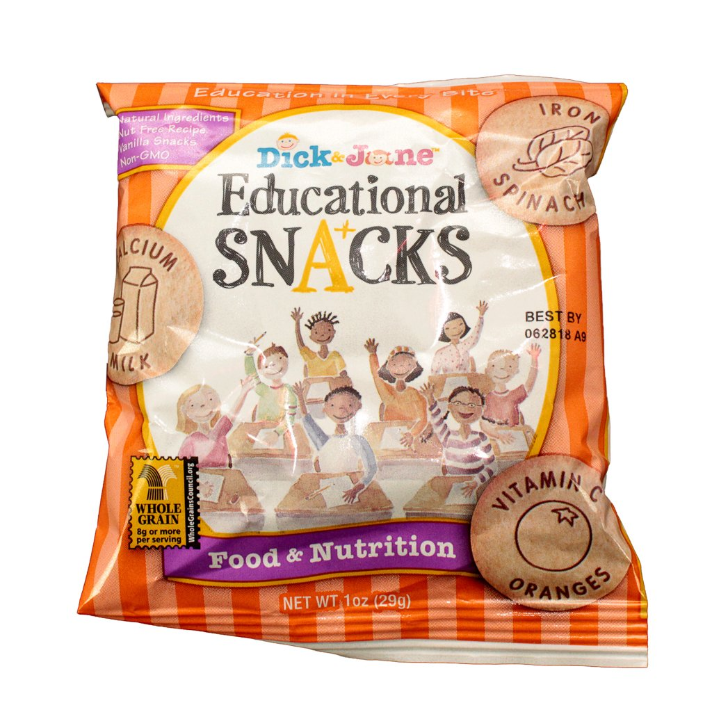 Dick Regular store Jane Educational Outlet sale feature Snacks Food of 120 pack Nutrition