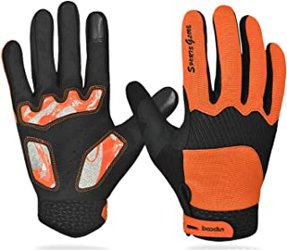 Aooaz Wipe Warm Non-Slip Cycling Gloves Touch Screen Full Finger Long Finger Gloves