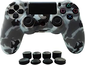 Hikfly Silicone Gel Controller Cover Skin Protector Compatible for Sony Playstation 4 PS4/PS4 Slim/PS4 Pro Controller (1 x...