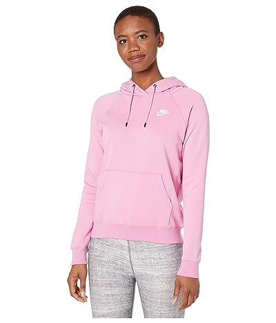 Nike NSW Essential Hoodie Pullover Fleece (Magic Flamingo/White) Women