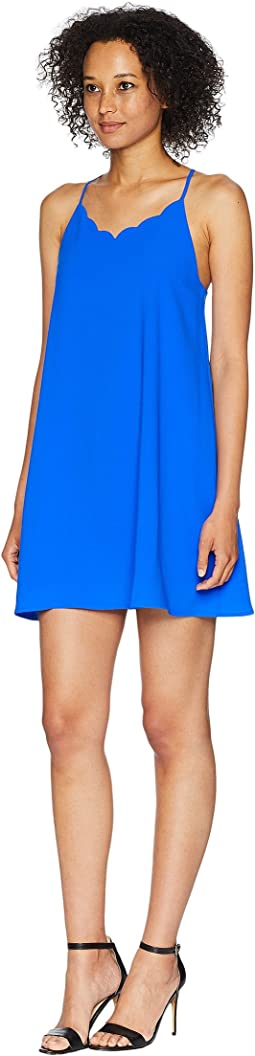 Holland Spaghetti Strap Scalloped Dress
