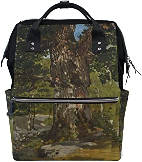 Student Travel School Backpack The Bodmer Oak Monet Art Oil Paintings Laptop College Bags Shoulder Tote Bag