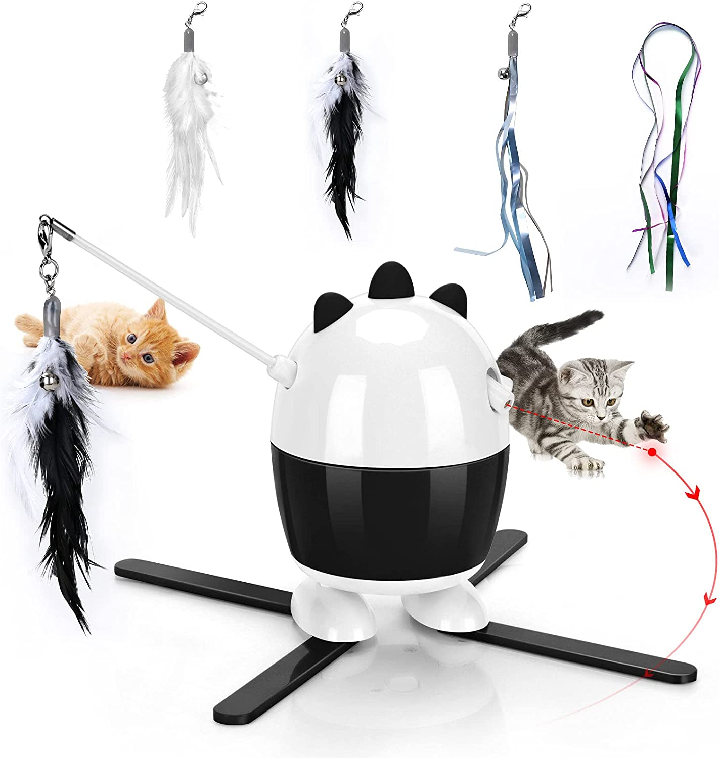 CatToysInteractive Cat Laser Cheap sale Toy Feather Toys 2 1 in Special price for a limited time R